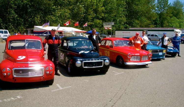 Volvos on pre-grid