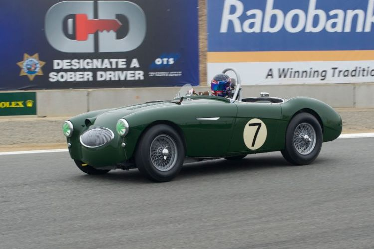 Gregory Johnson drove his 1955 Austin-Healey 100S to 3rd place.
