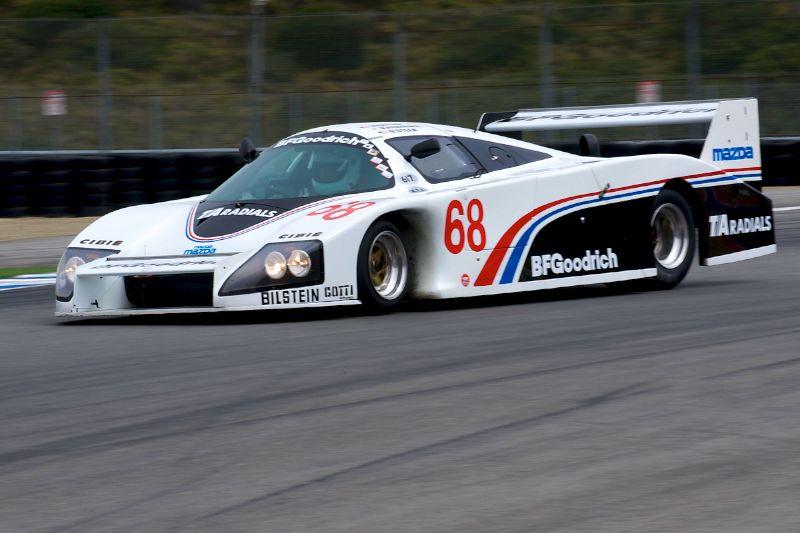 John Davis in his 1984 Lola T616 Mazda.