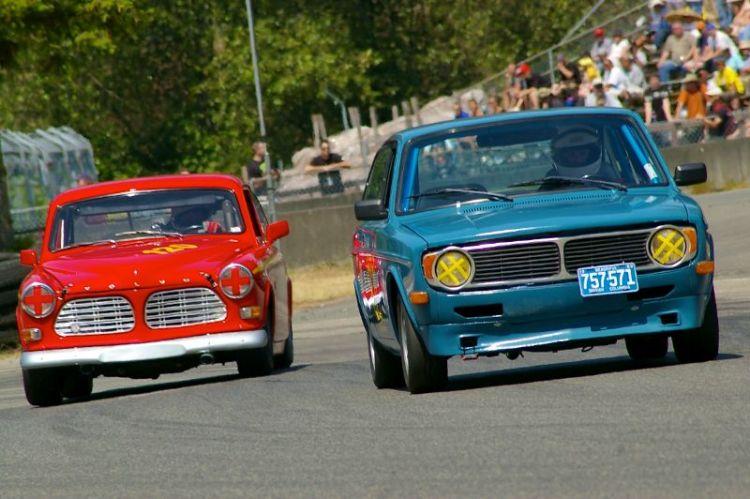 Volvo's in turn 5
