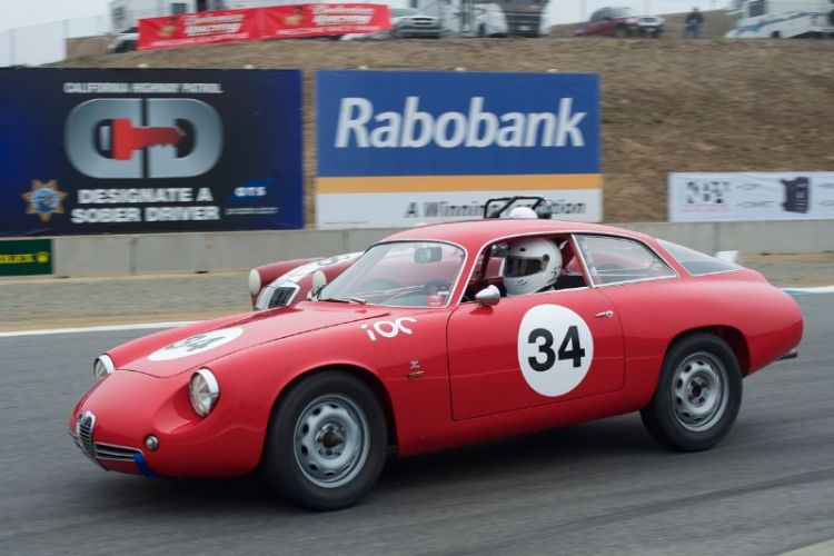 Jeff Hill in his 1962 Alfa Romeo Giulietta SZ.