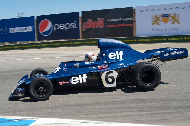 John Delane in his 1972 Tyrrell 6.