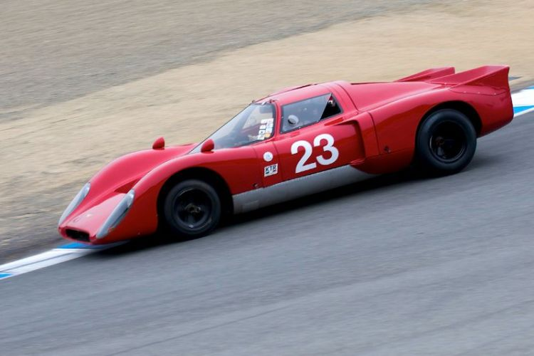 Bob Kullas in his 1969 Chevron B16.