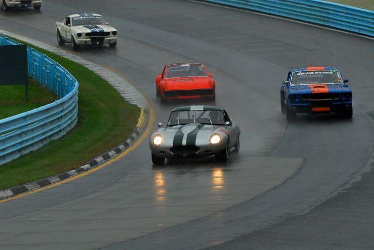 Rain, Jack Busch- 1967 Jaguar XKE.