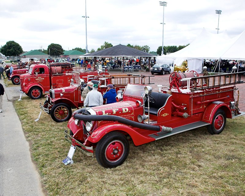 Kids of all ages loved the vintage fire trucks.