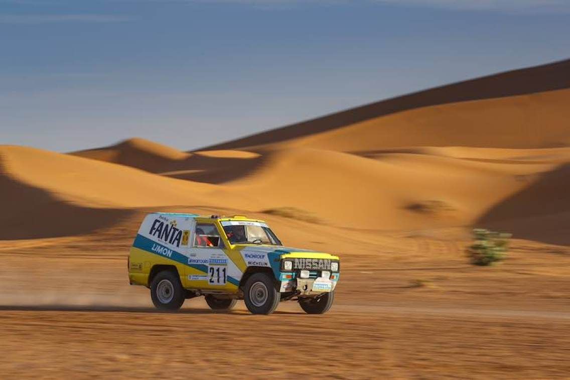 1987 Nissan Patrol Fanta Limon Paris-Dakar rally car