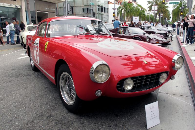Sporting a racing number, this is John Zambetti's 1957 Ferrari 250 GT Boano Berlinetta.