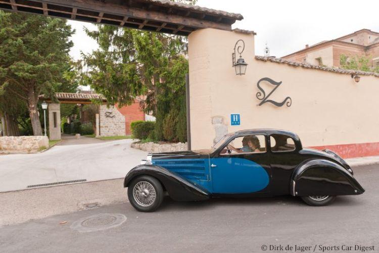 1936 Bugatti T57 Ventoux at Real Monasterio de Sirga