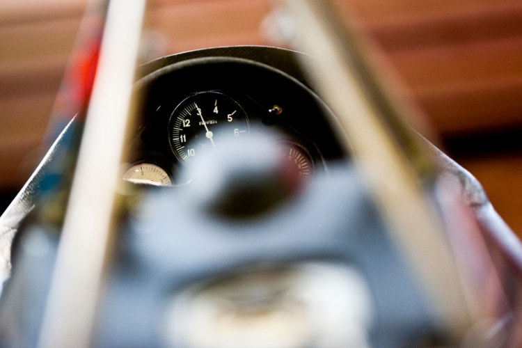 Vintage Ferrari F1 cockpit