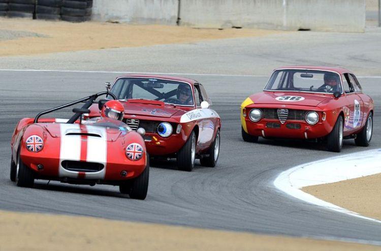 Pat Fitsimons, Harley Cluxton III, Mark Colbert, Elva Courier, Alfa Romeo GTA, and Alfa Romeo GTA.