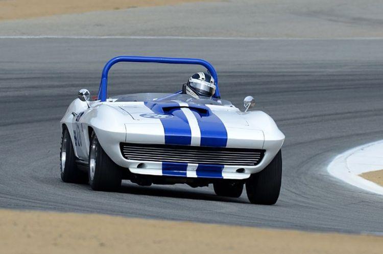 Terry Gough in his rapid 1965 Chevrolet Corvette.