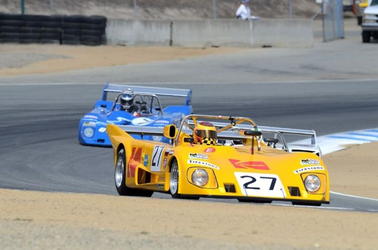 Keith Frieser's Lola T290 leads the Lola T282 driven by Todd Smathers.