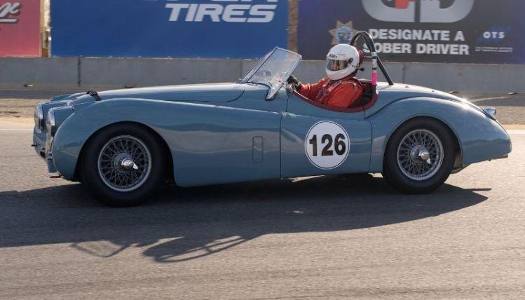Michael Kaleel, 1954 Jaguar XK 120.