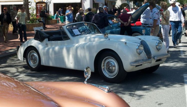 1950 Jaguar XK 120 DHC. Owned and driven by David Olson. The first 242 XK 120 Jaguars were all OTSs, hand made aluminum bodies on ash frames between 1948 and 1950.