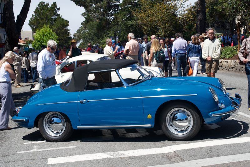 1960 Porsche 356B, owned and driven by David Rossiter. The color is 'Royal Blue'.