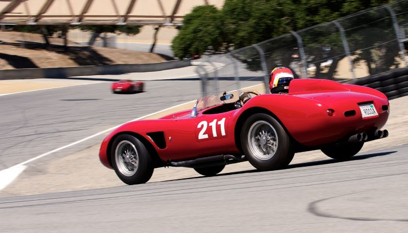 Pre-Reunion Saturday. Ferrari 625TRC driven by Michael Callaham.