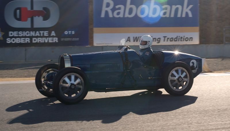 William Lyon in his 1927 Bugatti Type 35B.