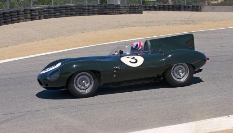 Pre-Reunion Saturday. Gregory Johnson's 1956 Jaguar D-Type.