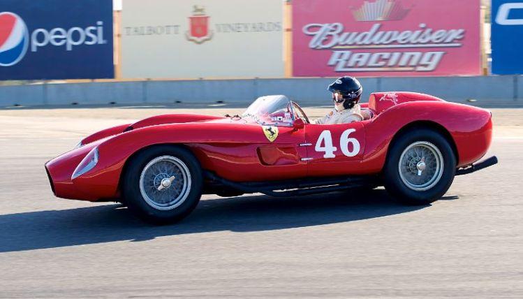 2011 Pre-Reunion, Sunday. Cris Cox in his 1958 Ferrari TR250 in turn eleven.