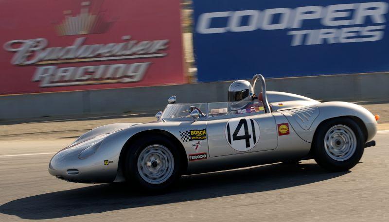 William Lyon's 1960 Porsche RS60 in turn eleven.