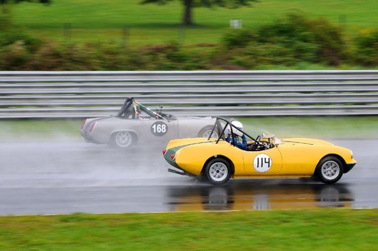 Norman Berke, 1959 Elva Courier, #168- Mathew Hagopian, 1968 MG Midget.