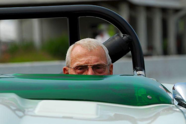 Bob Tullius, with his Group 44, Jaguar Series III, V12 E-Type.