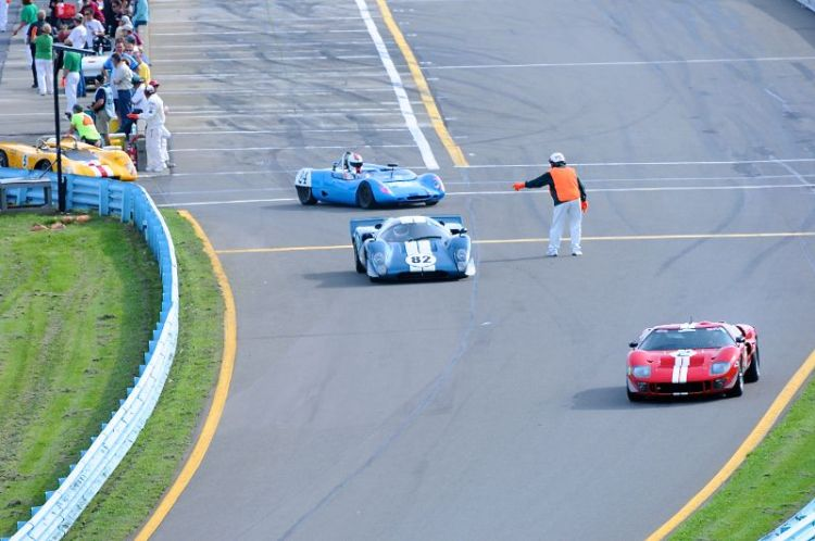 Group 5 heads down to the track.