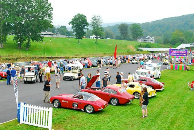 Concourse on the front straight of Lime Rock Park.