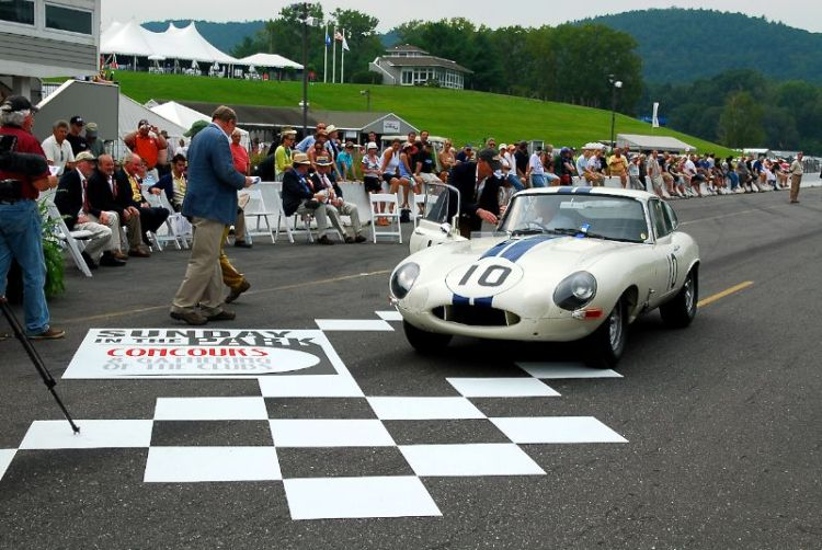 1963 Jaguar E-Type Coupe in competion trim. Mile Collier Collection.