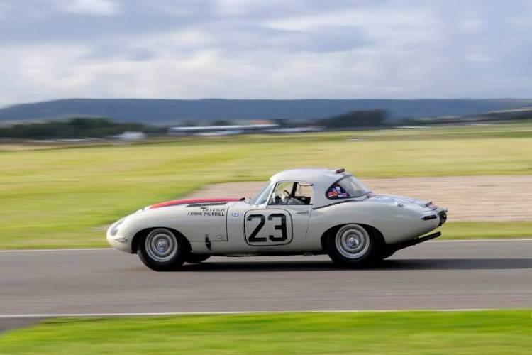 Jaguar E-Type Race at Goodwood Revival 2011