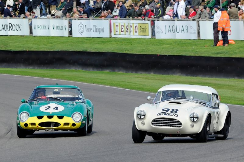1964 AC Cobra - Eddie Cheever and Kevin Kivlochan and 1962 Ferrari 250 GTO - Joe Bamford and Alain de Cadenet