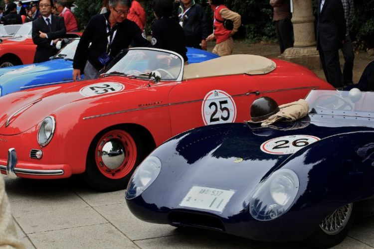Porsche 356A Speedster and Lotus X1 Series 1 Le Mans