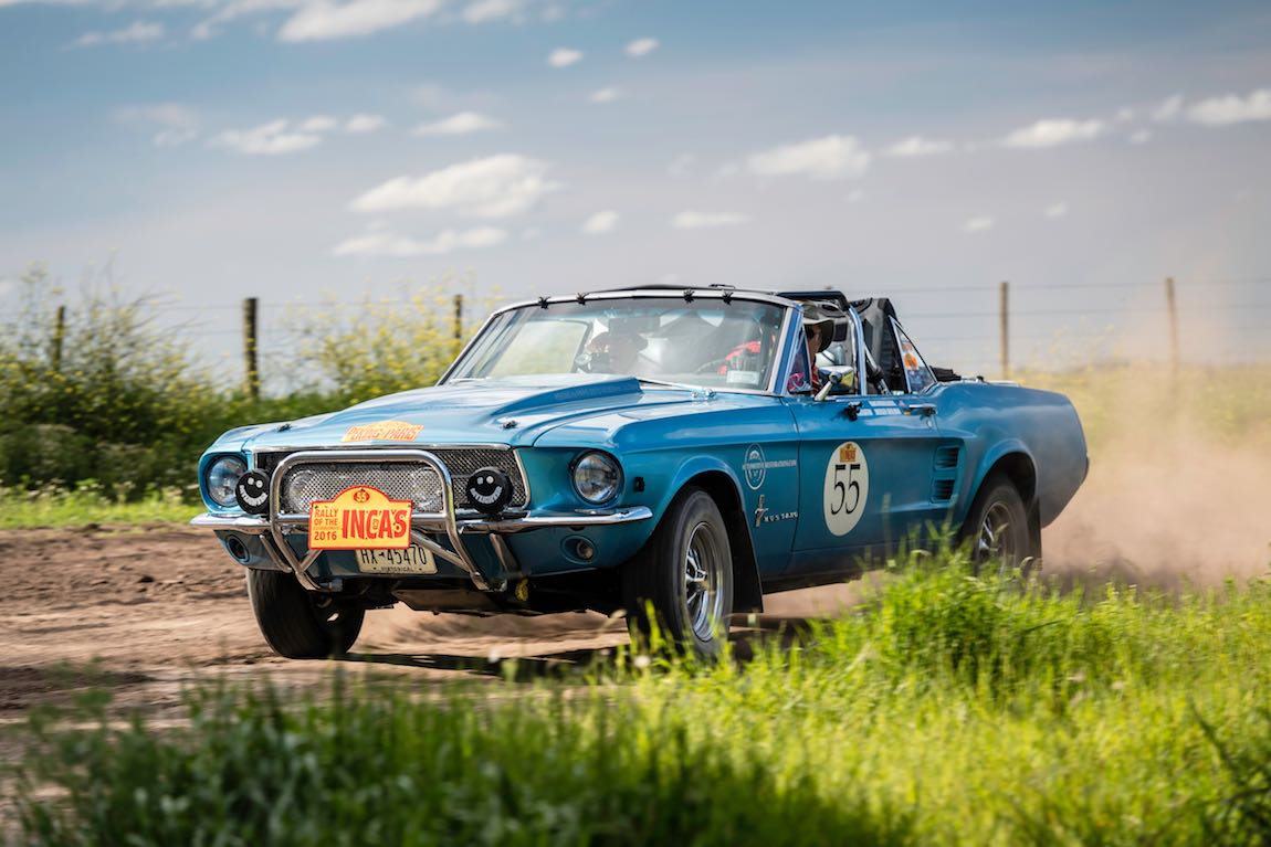 Car 55 Hans Middelberg(USA) / Jurgen Grolman(D)1967 - Ford Mustang Convertible, Rally of the Incas 2016