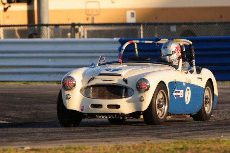Mike Fisher, 1960 Austin Healey 3000.
