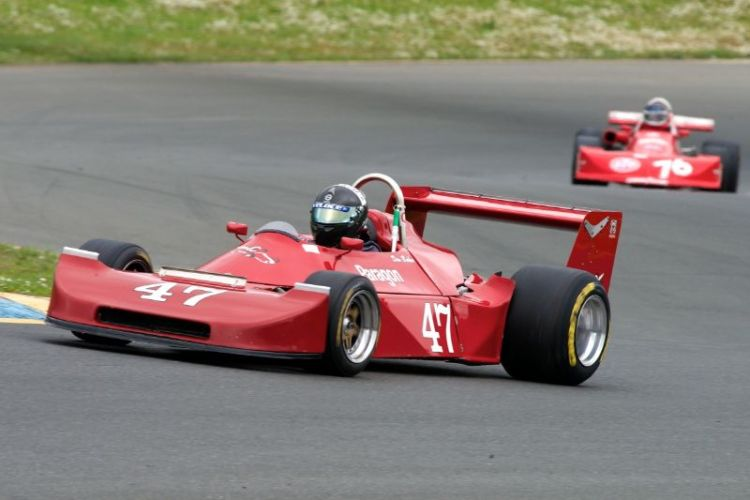 Danny Baker's 1979 Ralt RT2 up the hill into two.