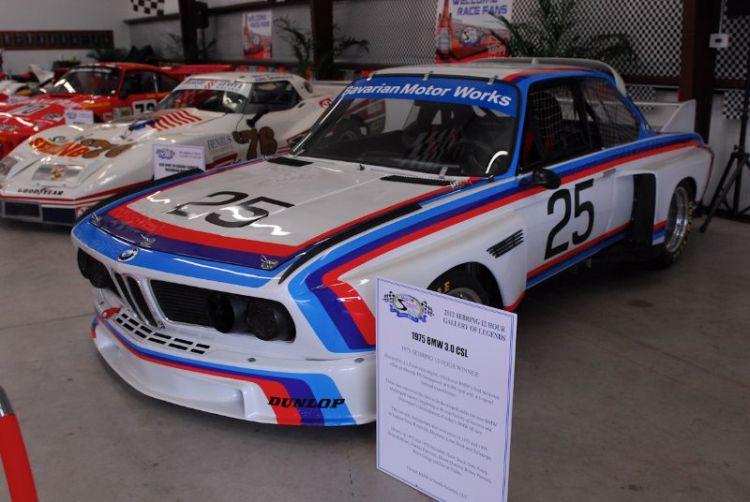 1975 BMW 3.0CSL Winner Sebring 12 Hour.