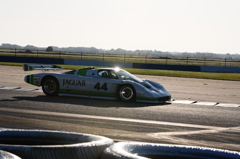 Bob Tullius- in the Jaguar XJR7.
