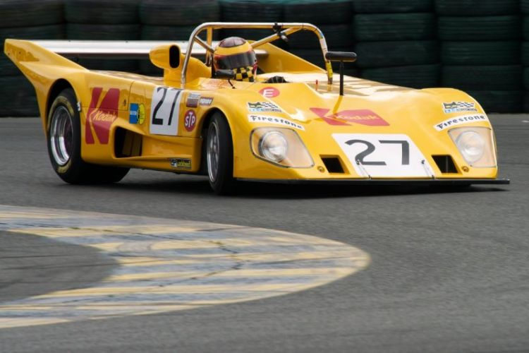 Friday morning practice. Keith Frieser 1972 Lola T290 in eleven.