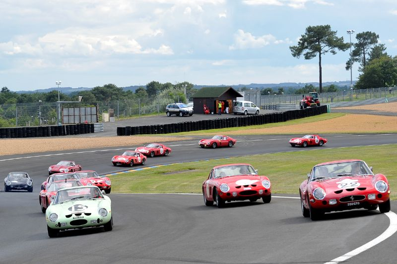 Ferrari 250 GTO 50th Anniversary Tour at Le Mans Classic