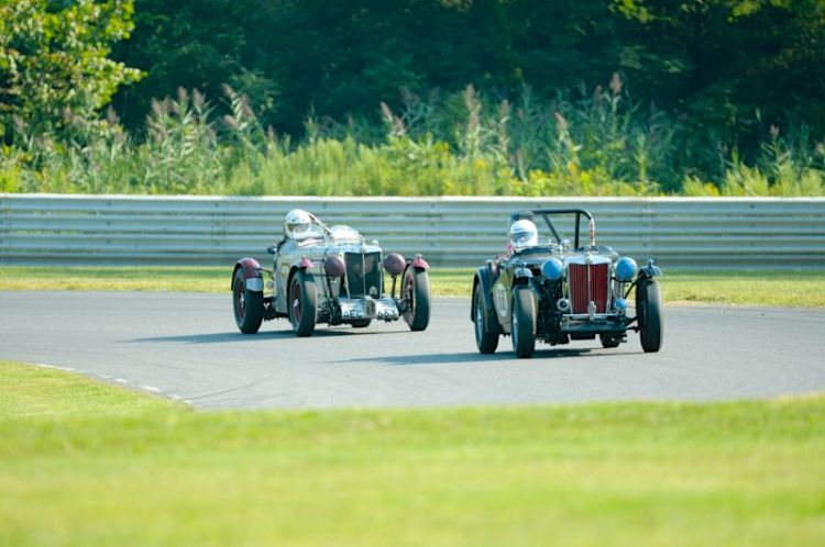 #68- Colin Smith- 1948 MG-TC, #704- Frank Mount- 1939 MG-TB.