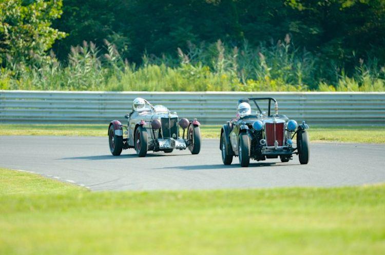 #68- Colin Smith- 1948 MG-TC, #704- Frank Mount- 1939 MG-TB.