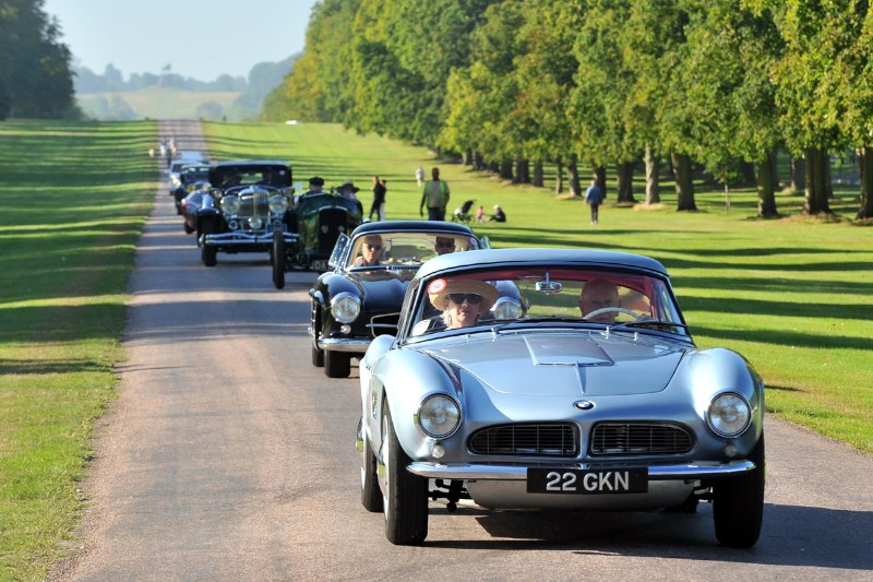 1957 BMW 507 driven by its owner, John Surtees