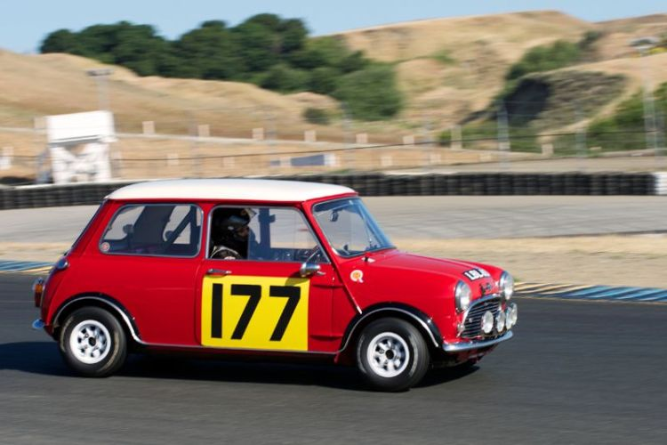 Dennis Racine's Morris Mini Cooper S in four.