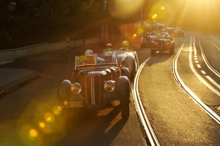 BMW 328 Team at Mille Miglia