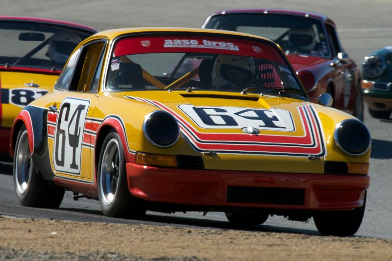 Carl Thompson's Porsche 911 in turn five.