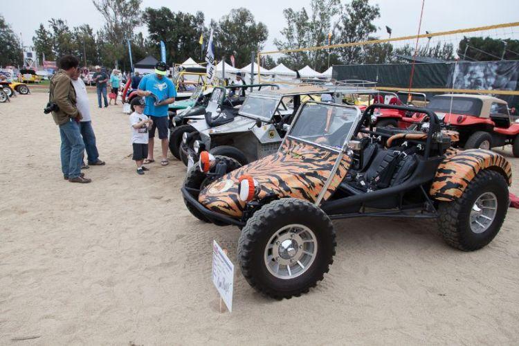 Plenty of dune buggies on display.
