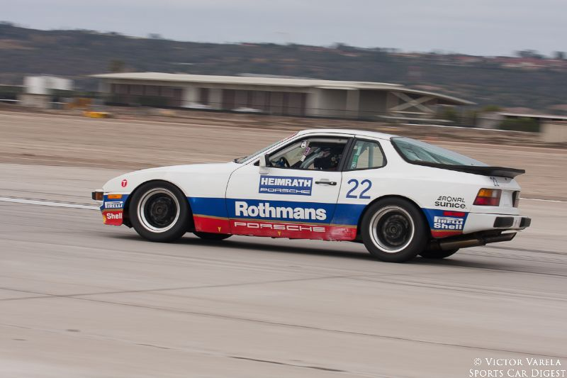 Excuse him while he races by... Jimmy Hendrix in his 1986 Porsche 944.  © 2014 Victor Varela