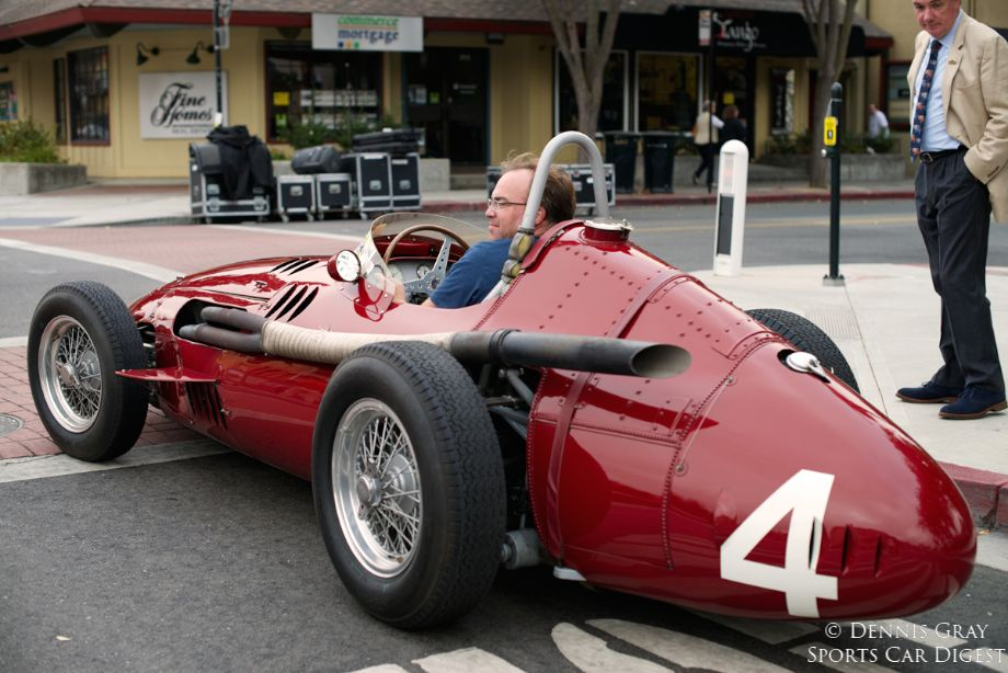 2014 Danville Concours. Not often you see a Maserati 250F being parallel parked even in Danville.