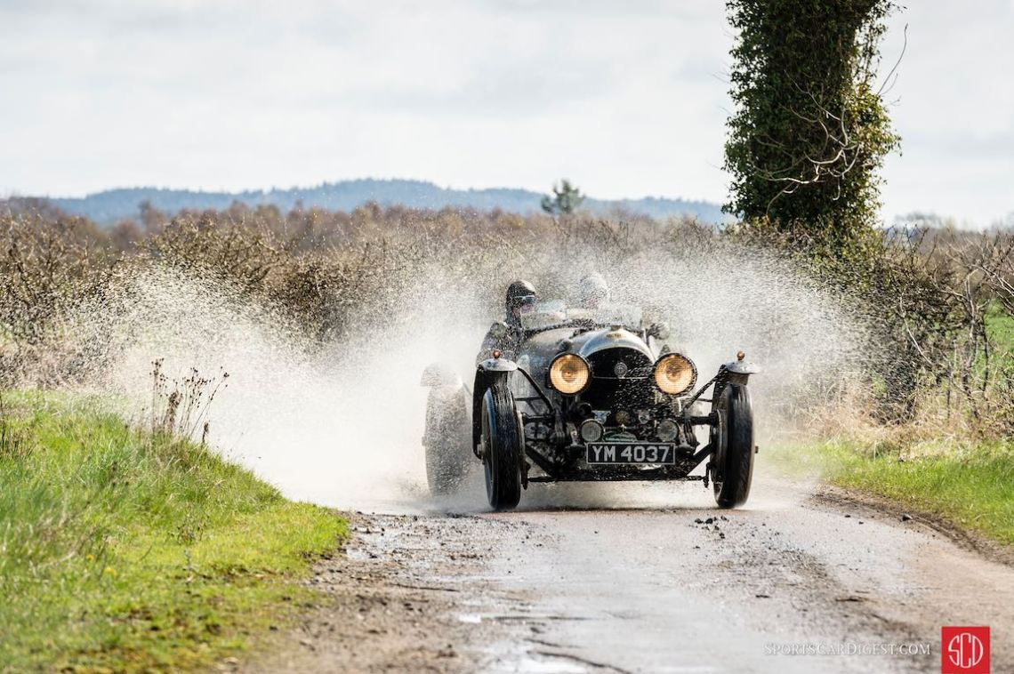 Bentley Super Sports makes a splash at the Flying Scotsman Rally (photo: Gerard Brown)