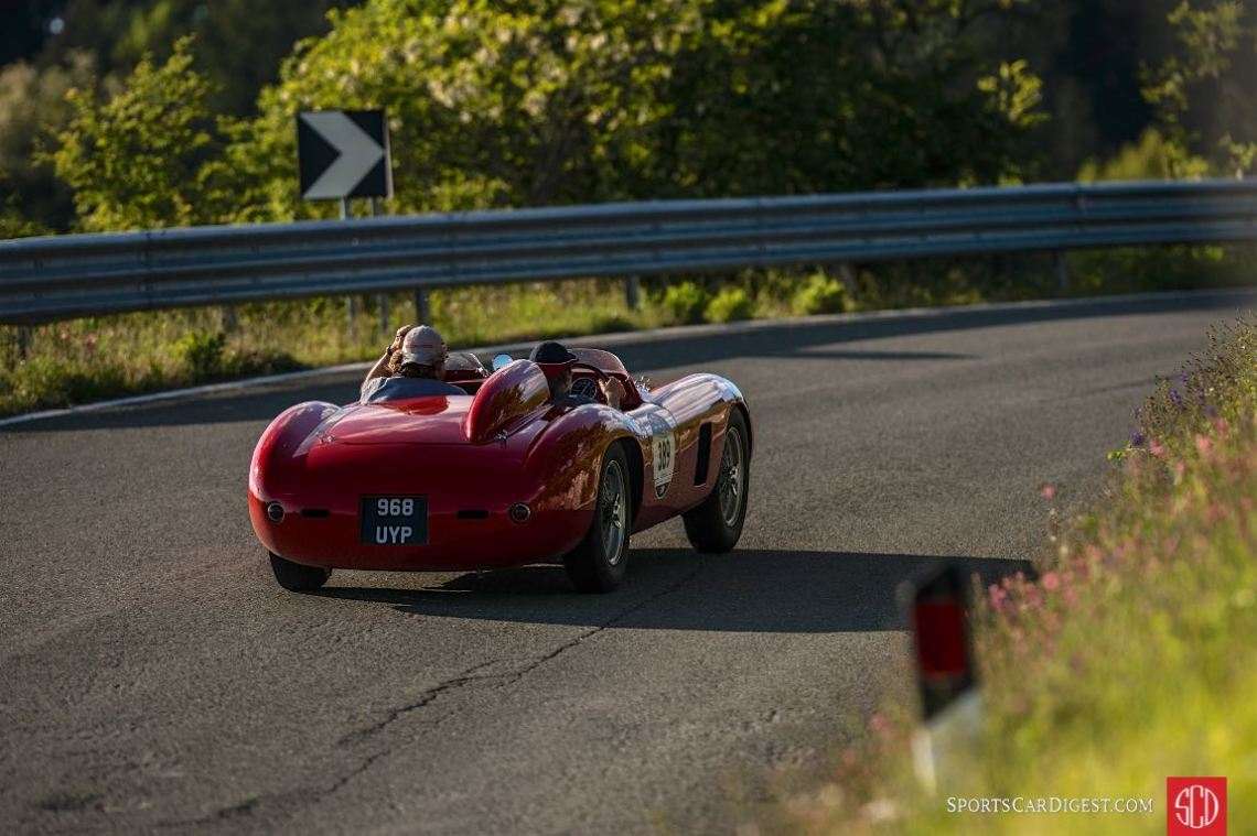 1956 Ferrari 500 TR Spider Scaglietti at the Mille Miglia (photo: Julien Mahiels)